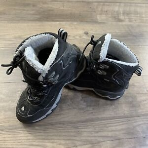 NORTH FACE Women's 6.5 Winter Boots Black Grey HydroSeal Waterproof Snow Shoes