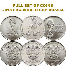 FULL SET 2018 FIFA WORLD CUP RUSSIA 25 RUBLES COINS 2016 - 2017 *A1