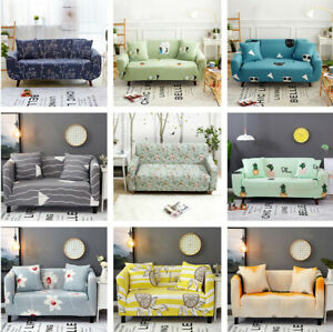12/3/4 Seater Washable Stretch Fabric Sofa Cover Sectional Couch Cover Slipcover