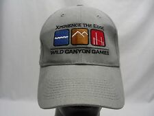 WILD CANYON GAMES - XPERIENCE THE EDGE - ADJUSTABLE STRAPBACK BALL CAP HAT!