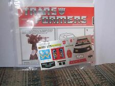 Transformers Reissue G1 Smokescreen Instructions Sticker Sheet Lot Commemorative