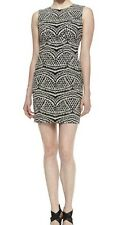 NWT Diane von Furstenberg Pentra Sheath Dress Sze 14 Black/Ecru $448 Saks Bloom.