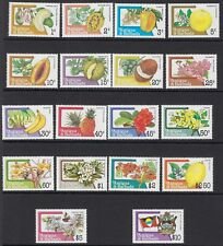 FLOWERS: ANTIGUA 1983 Fruit and  Flowers definitive set  SG793-810 MNH