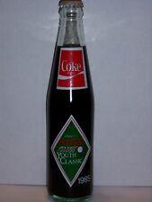 10 OZ COCA COLA COMMEMORATIVE BOTTLE - 1985 JOHNSTON COCA COLA YOUTH CLASSIC