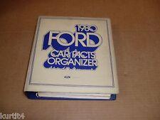 1980 Ford Car Dealer Album Facts book Mustang Thunderbird LTD Pinto Police Taxi
