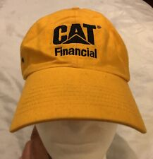 CAT Financial Logo Cap Hat Yellow Caterpillar Official Adjustable Embroidered