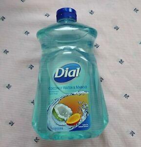 Dial Liquid Hydrating Hand Soap Wash Refill Coconut Water & Mango 52oz NEW