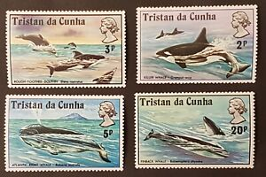 Tristan Da Cunha - 1975 - Sc 202 - 05 - Killer Whales VF MNH cv=US$6.10