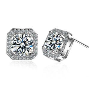Luxury Female Crystal Zircon Stone Earring Fashion Jewelry Silver Plated earring