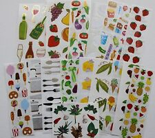Mrs. Grossman sticker sheet You Choose - Food Kitchen Cooking Eating Utensils