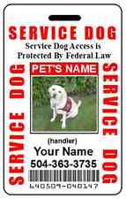 HOLOGRAM SERVICE DOG / PET ID CARD BADGE  FOR SERVICE ANIMAL PROFESSIONAL TAG 5