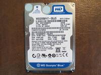 "Western Digital WD3200BPVT-08JJ5T0 DCM:HHMTJAB FW:01.01A01 2.5"" 320gb Sata HDD"