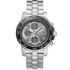 Seiko Men's Alarm Chronograph Silver-Tone Watch SNAA63