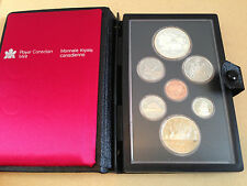 1981 Royal Canadian Mint 7-Coin Proof Set in Original Leather Book - RCM Issue