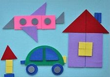 Geometric Flannel Board with Felt Figures - Interactive Flannel Board Story Set