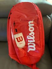 Wilson Tennis Super Tour Backpack - Red/White