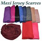 Top Quality Jersey Hijab Scarf Shawl Wrap Stretchy Big Large Plain Lycra Maxi