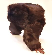 Vintage 1985 Rabbit Fur Russian USSR Ushanka Trapper Winter Cap Hat SMALL SIZE S