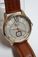 Sharp Men's ESS Luxury Watch - Brown Leather Band - Needs clip
