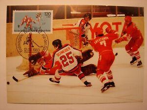 (BU3161) ICE HOCKEY SPORTS 1983 GERMANY maximum maxi card postcard