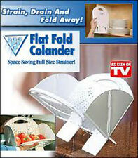 Flat Fold Colanders, Perfect for Gifts, Space Saver RV's & Campers Free Ship Z13