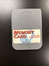 Memory Card With Case For PlayStation For PlayStation 1 PS1 Expansion Good 3E