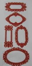 Red Glitter Foam Frame Stickers  (Set 4) 30cm x 12cm for cards and crafts