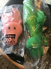 Toy Story Dinosaur Rex Puppet, Hamm the Pig Hand Puppet, Vintage Burger King