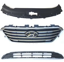 New OEM 2015-16-17 Sonata Front Bumper Upper & Lower Grille With Sight Shield