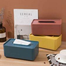 Tissue Box Dispenser Plastic Cover Paper Storage Holder Napkin Case Organizer