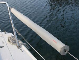 Rückenschutz Reling, Relingspolster Relingskissen Boot 98 cm grau