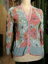 BODEN  cotton crinkled floral cardigan in a bag  size L UK14