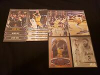 2019-20 Anthony Davis Panini Chronicles 12 Card Lot Lakers Bronze Teal Marquee