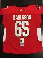 Erik Karlsson Senators Auto Autographed Sz 52 Hockey Jersey JSA Certified