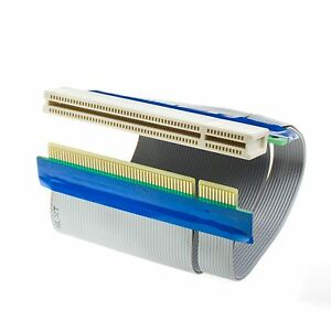 Flexible PCI Riser Slot Extender Ribbon Cable Adapter Expansion Cord