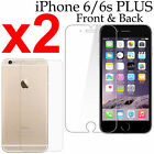 x2 Anti-scratch 4H PET film screen protector Apple iphone 6 6s PLUS front + back