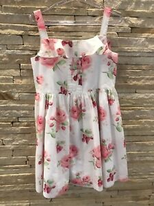 Janie and Jack beautiful rare and VHTF Strawberry Fields floral dress sz 4 VGUC