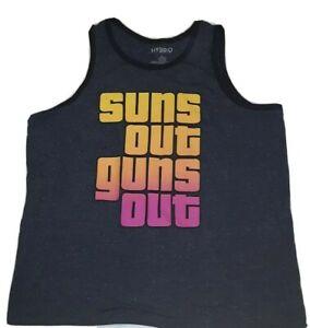 Suns Out Guns Out Men's Muscle Tee Tank Top 2XL  56 x 32 Beach Summer Phoenix