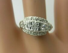 Antique Vintage Platinum and 0.33 CT Diamond Ring