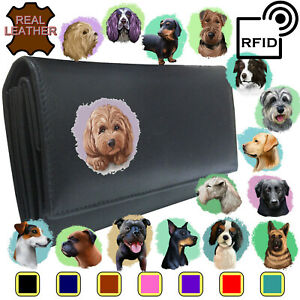 Dog Breeds Womans Purse Set 1 KLASSEK Amimal Leather Wife present accessory Gift