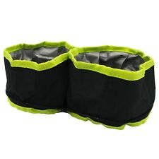 Sharper Image Double Collapsible Pet Bowls, Small Compact & Waterproof for Dogs