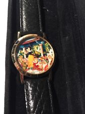 Disney Lladro Snow White Watch Special Edition 1995 Black Band Original Box