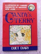 Vintage /Candy Candy/ Notebook/ Duet Diary/ Nakayoshi /1978 Anime Manga JAPAN FS