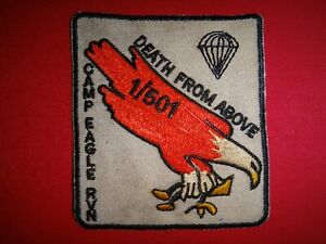 """""""DEATH FROM ABOVE - CAMP EAGLE RVN"""" 1st Bn 501st Infantry Rgt, Vietnam War Patch"""