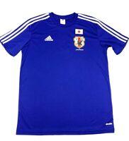 Japan Football Association JFA Adidas Climalite Mens Soccer Jersey Blue L New