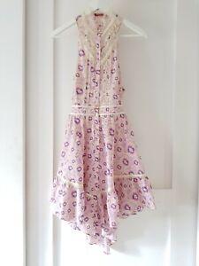 TIGERLILY Sz 10 pink open back lace sundress