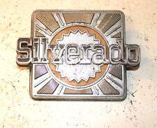 RARE 1973-80 CHEVROLET PICKUP TRUCK SILVERADO FENDER EMBLEM BADGE #14014315 AUTO
