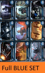 Topps Star Wars Card Trader FANTASY FLIGHT GAMES [29 CARD UNCOMMON BLUE SET]