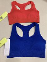 Women's All In Motion Medium Support Seamless Shine Racerback Bra(s) Red/Blue