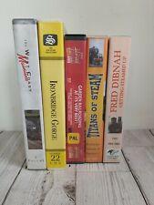 5 Steam Train VHS Tapes Railway Trains Fred Dibnah Steam Engine bundle job lot